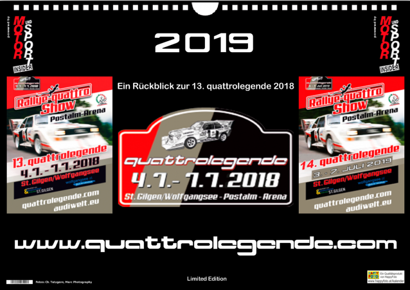 Kalender quattrolegende 2019